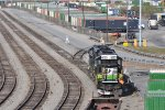 NS 653 On Inman Yard Picking Up Baretables