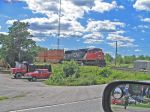 CN 5724 With stack train crossing King Road