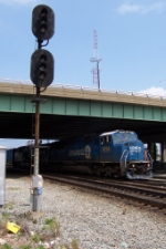 CSX 8754 shoves back and says bye to us