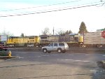 AERC 1807 and AERC 5935 pushing back a load of Centerbeams from Coos Bay, OR