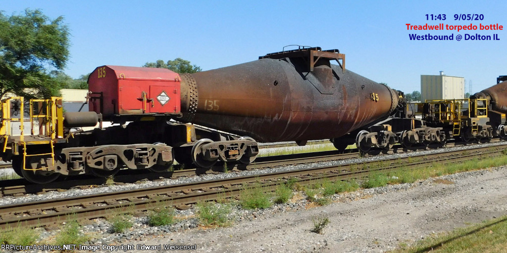 "Treadwell 10-axle ""torpedo"" hot bottle car"