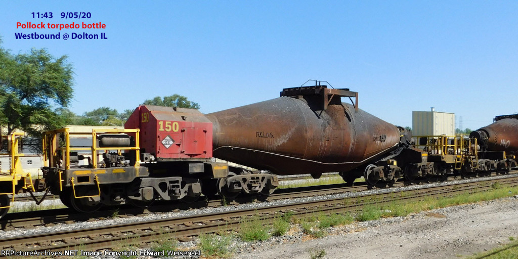 "Pollock 10-axle ""torpedo"" hot bottle car"