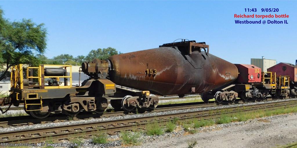 "Reichard 10-axle ""torpedo"" hot bottle car"