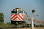 Amtrak San Joaquin with Caltrain locomotive for power