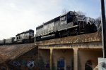 P86 rolling over Southern Railway Company bridge