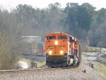 BNSF 9090 leading NB empty coal train
