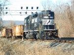 NS 5179 shoving a MOW train through COVE PA
