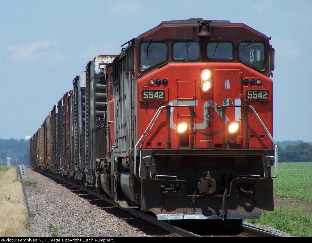 Southbound Manifest With CN SD60F 5542