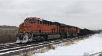 BNSF 3972 leads a coke train west.