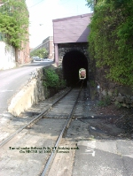 Tunnel under Bellows Falls, VT looking north