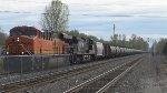 BNSF 7142 leads a Crude Oil Train