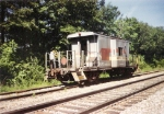 SBD 16635 caboose on the siding