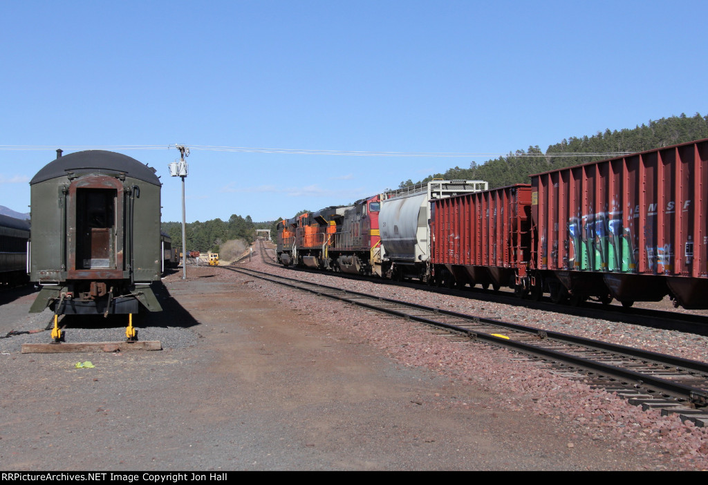 H-PHXBEL heads for the hill and the climb up to the Seligman Sub at Williams Junction