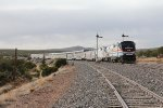 Amtrak heritage paint leads the way through classic New Mexico