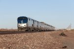Three P42's make track speed with the eastbound Southwest Chief