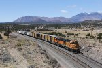 BNSF 529 slowly pulls down with the 71 Local out of Flagstaff