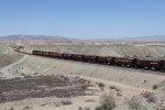 Just inside California, G-LRLSTO9 rolls west toward Needles