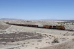 BNSF 6925 & 5332 bring up the rear of grain loads