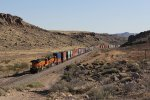 S-LPCLHT1 heads away through Slaughthouse Canyon with two rear DPU's
