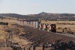 Three GEVO's lead the way as S-LPCLHA2 rolls west on the Santa Fe