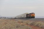 With a haze from wildfires hanging in the sky, BNSF 5459 races east with Z-PHXWSP9