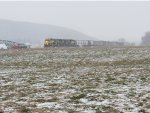 Snow in the farm lands