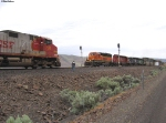 BNSF 6809 East meets BNSF 736 West