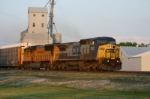 CSX 7802 has autos for the Wabash in tow