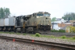 NS 9834 leads another intermodal train