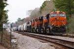 BNSF 6735, 8156, 5755, 7487, 8024, 9687(E), 9490(E) at Iola, TX