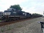 NS C40-9W leading a Welded Rail Train