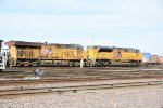 UP 9027 Drags a stack train into Dupo yard.