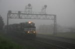 Ghostly image of a westbound