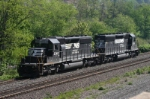 NS 3340 and 3374 running light to Conemaugh