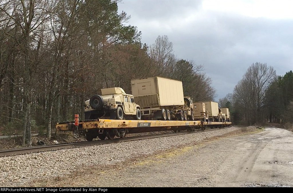 ITTX 942638 runs 54th at the tail end of a Department of Defense special