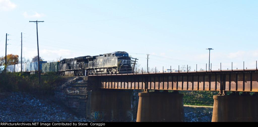 NS 4020 & NS 3637 On The Bridge Over the Lehigh River