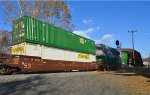 BNSF 253458 -B with two 53ft. Containers.