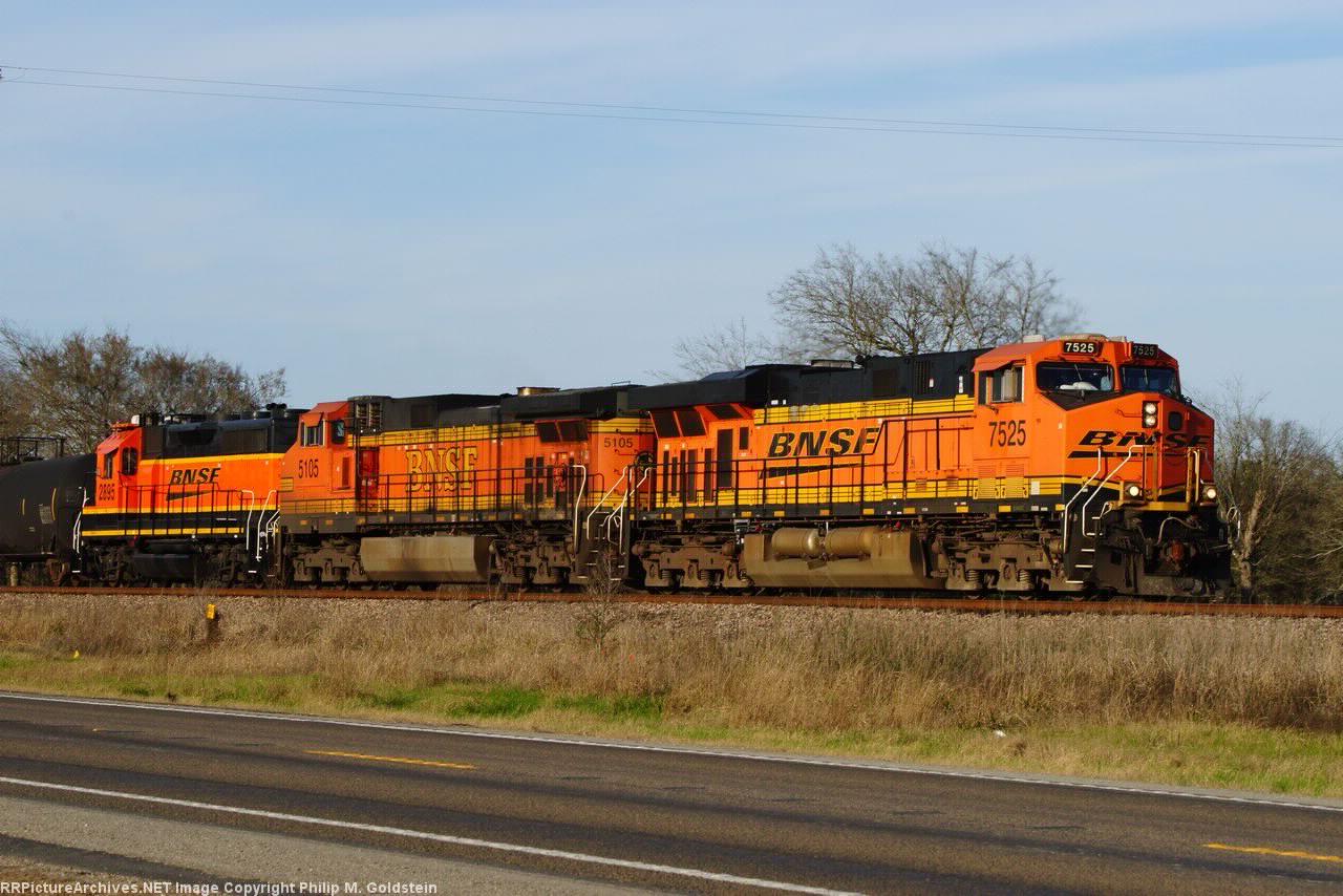 BNSF 7525, 5105, 2895