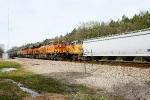 BNSF 4241, 7160, CREX 1215, UP 7482
