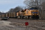 UP 7730 Drags a loaded coal down the Jeff City sub.