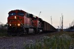 BNSF 5901 in the day's last light.