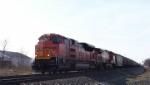 EB Grain Train w/new BNSF power