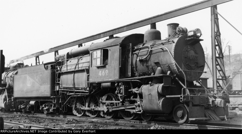 CNJ 4-8-0C #469 - Central RR of New Jersey