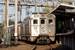 "NJT Arrow III EMU #1323 on the ""Dinky"""