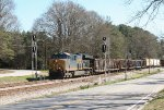 CSX 3456 leads through the Union City signals