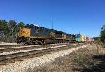 CSX 3409 and 152 lead doublestacks SB