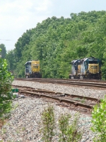 Three Geeps waiting in the yard