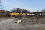 A UP freight bound for Proviso works its way around Blue Island Yard on the bypass main