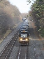 B06 heads away with its 4 GP60's working hard to push 34G uphill