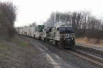 NS 4066 & 9852 come quickly around the curve with 26T